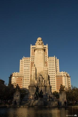 Plaza de España atardecer